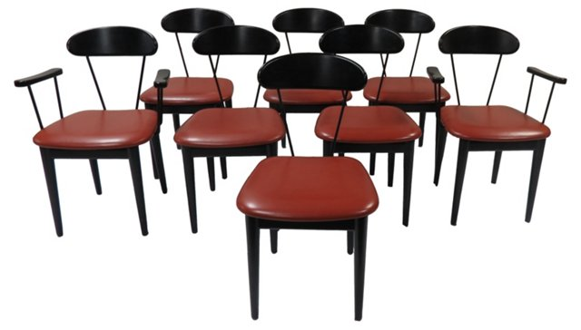 Pozzi Dining Chairs, S/8