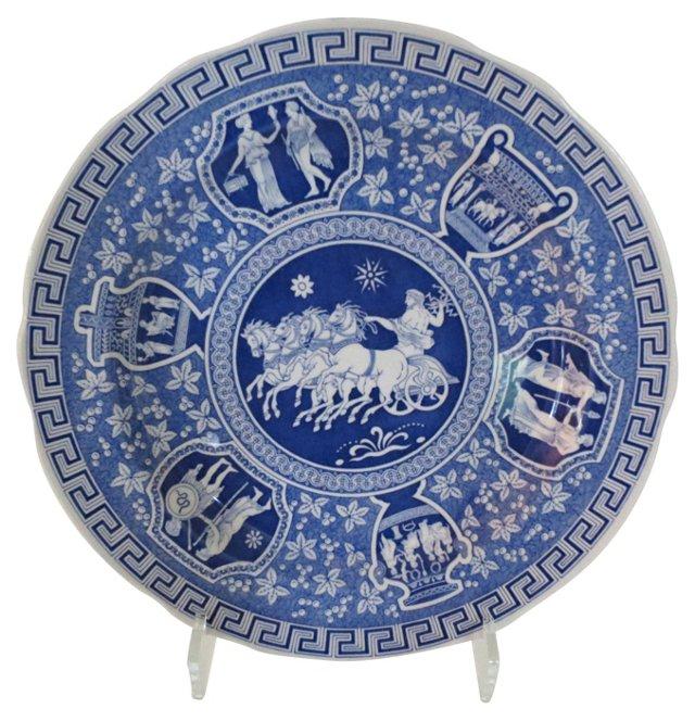 Spode White & Blue Plate