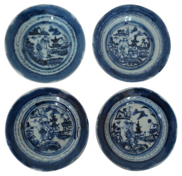 Antique Canton Bowls, Set of 4