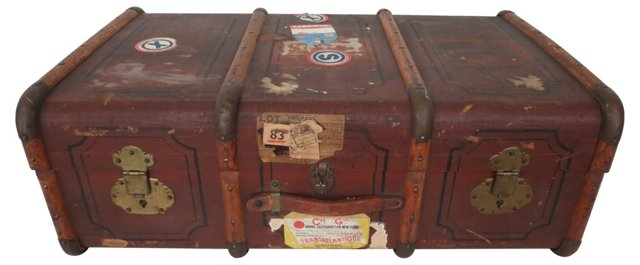 French Travel Trunk
