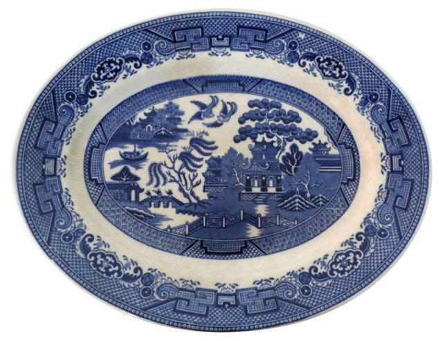 Blue Willow English Serving Platter