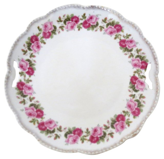German Porcelain Cake Plate