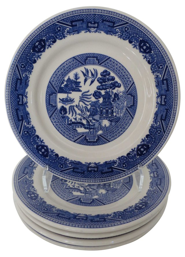 Willow Catering Dinner Plates, S/5
