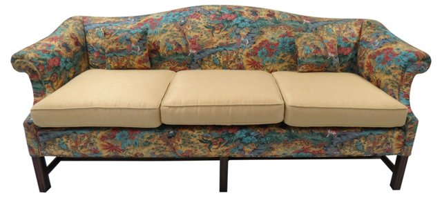 Chinoiserie Camel-Back Sofa
