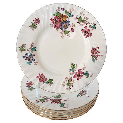 Minton Floral Salad Plates, S/6