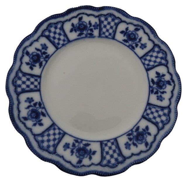 Scalloped Flow Blue Plate