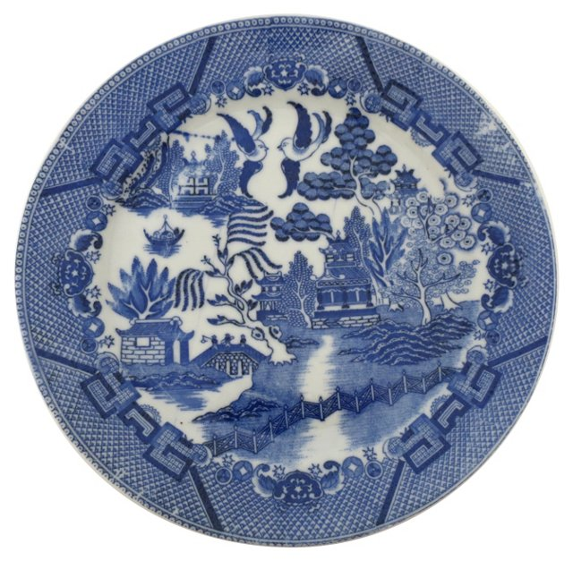 Japanese Porcelain  Blue Willow Plate