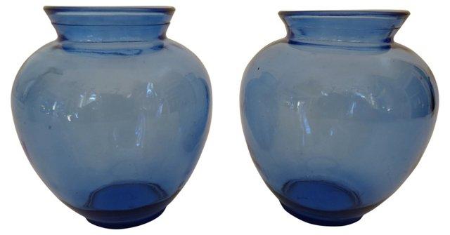 Cobalt Mini Vases, Pair