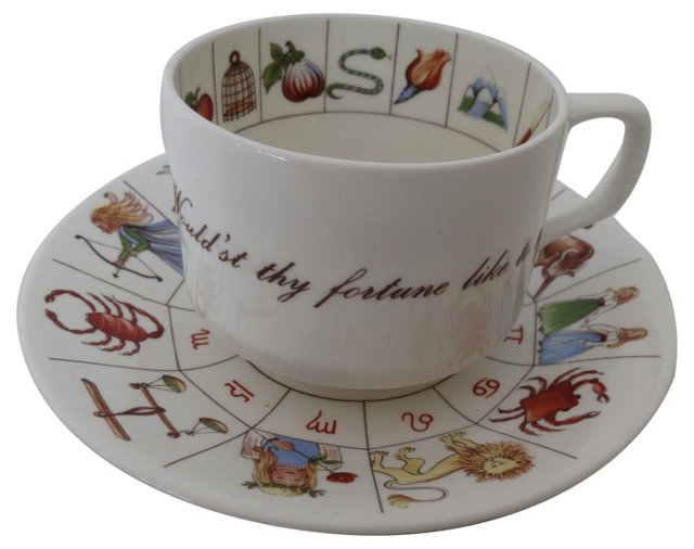 Staffordshire Fortune Cup & Saucer