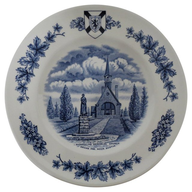 English Staffordshire Cabinet Plate