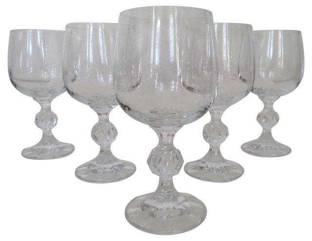 Crystal Goblets, S/5
