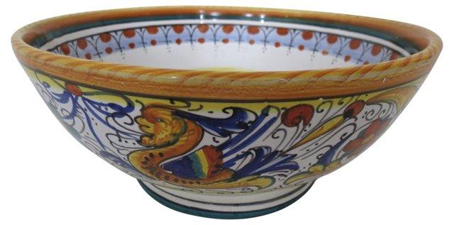 Italian Faience Deruta  Bowl