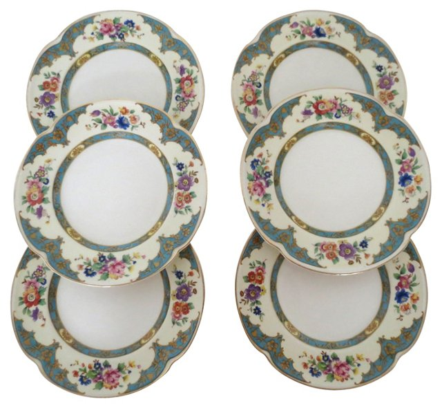 Johnson Bros. Floral Bread Plates, S/6
