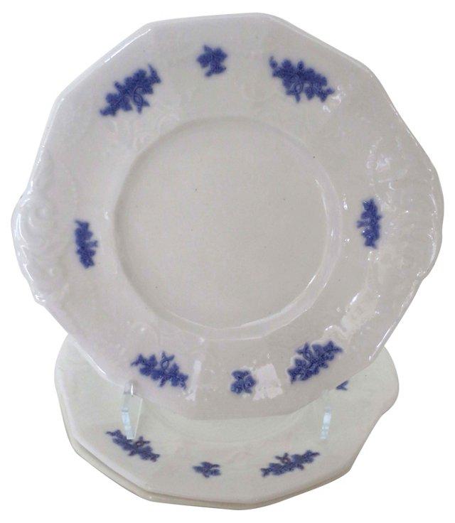 Blue Chelsea Dinner Plates, S/3