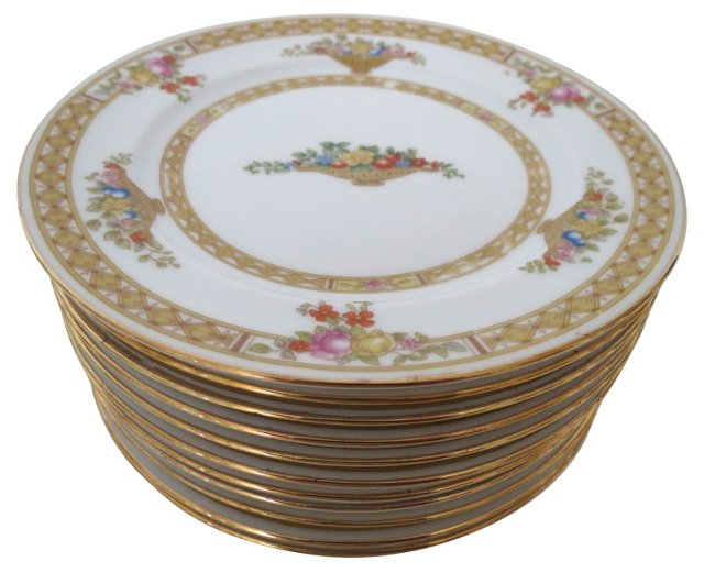 Porcelain Bread Plates, S/11