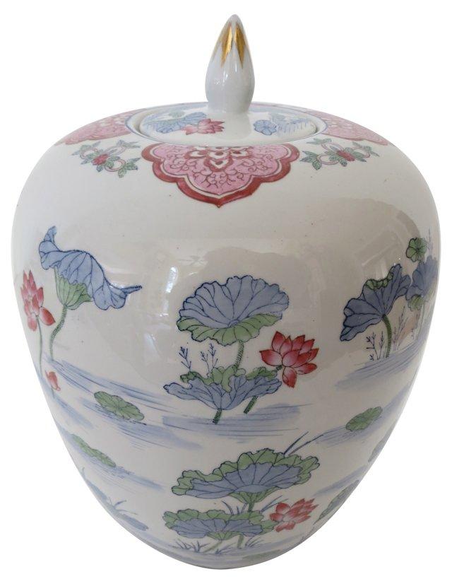 Pink Lotus Ginger Jar