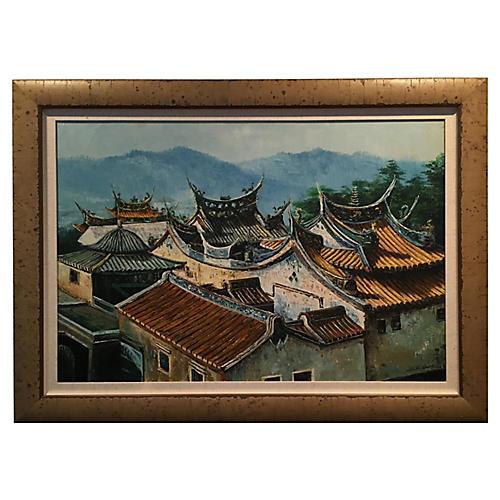 Pagoda Rooftop Landscape