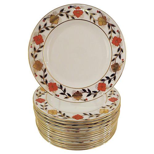 Tiffany & Co. Crown Derby Plates, S/14