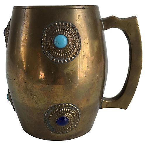 Brass Cabochon Mug