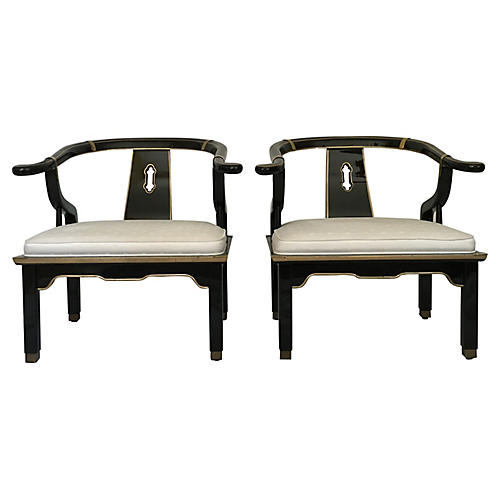 James Mont Ming-Style Chairs, S/2