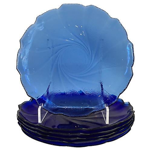 Cobalt Dinner Plates, S/6