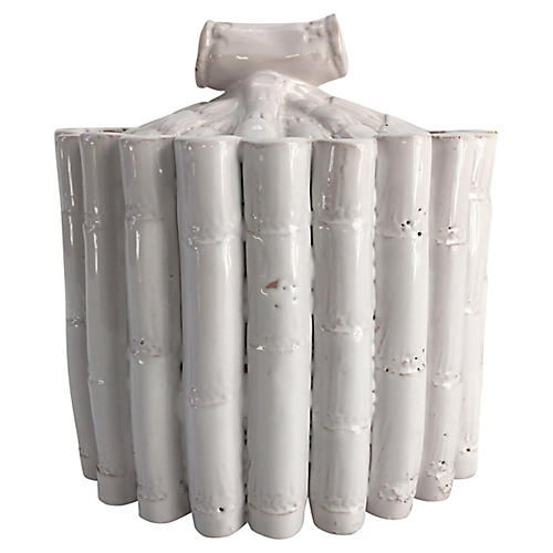 Italian Faux-Bamboo Lidded Jar