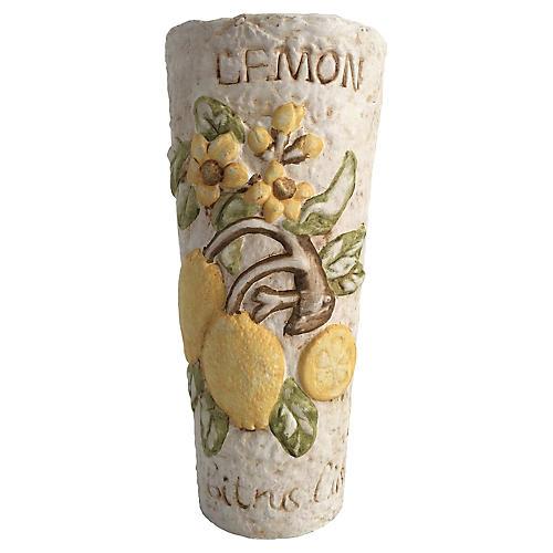Italian Terra-Cotta Lemon Vase