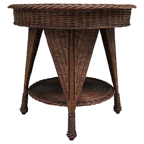 Antique Heywood-Wakefield Wicker Table