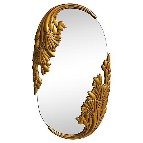 Hollywood Regency-Style Gilt Wood Mirror