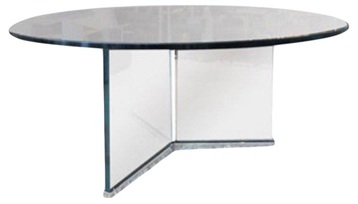Tripod Glass &  Chrome Cocktail Table