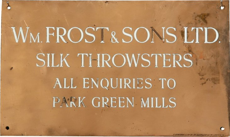 English Copper Advertising Sign