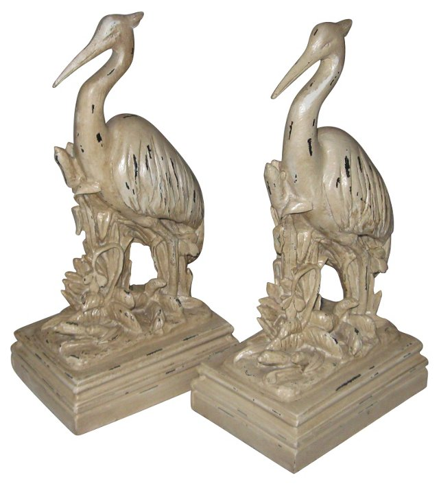 Heron Statues/Bookends