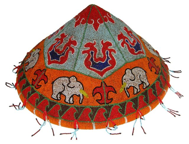 Hand-Beaded Sumatran Wedding Hat