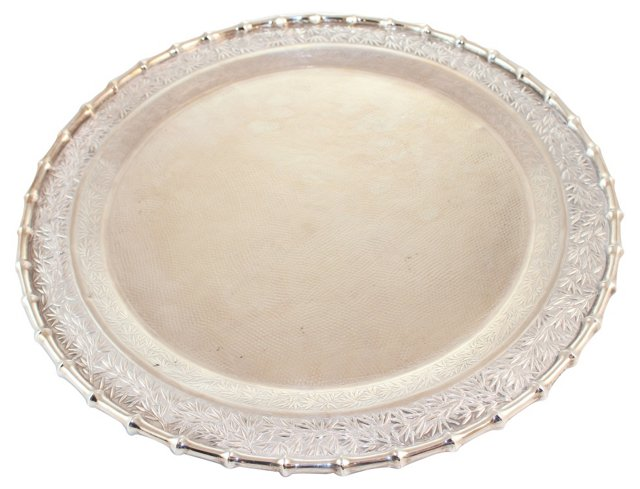 Silver Chinese Export Tray