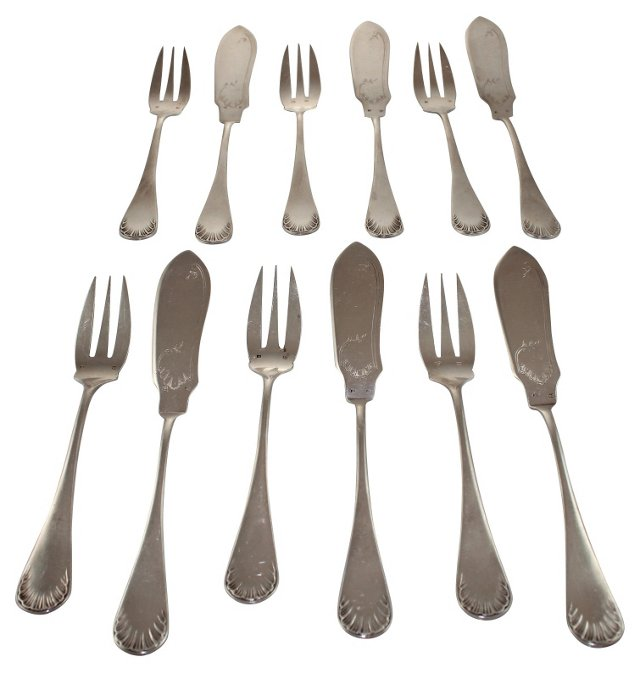 French Fish Utensils, Svc. for 6