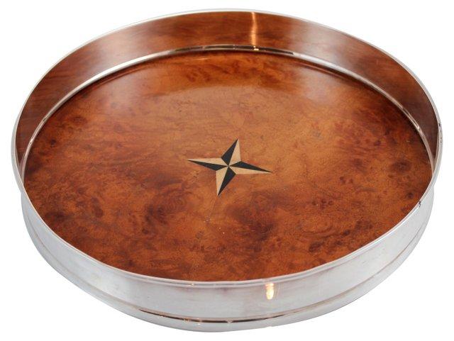 Mariner's Star Burled Walnut Salver