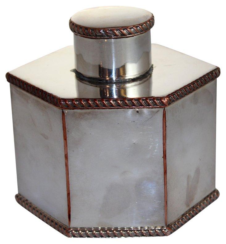 George I Hexagonal Tea Caddy