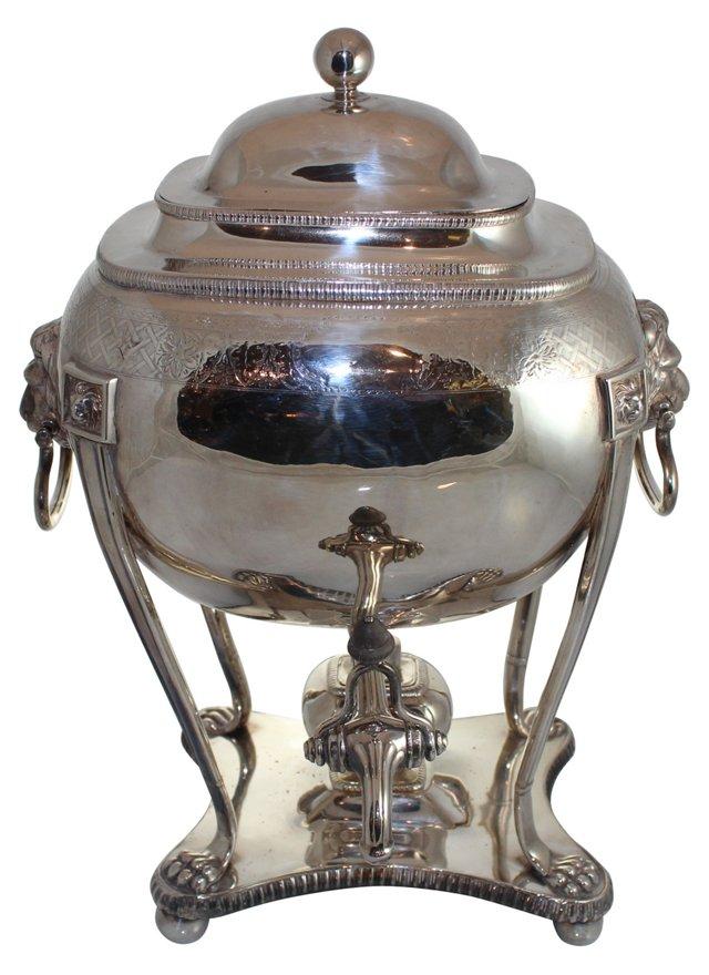 Old Sheffield Engraved Tea Urn