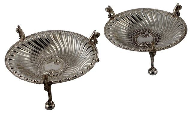 Spiral Fluted Compotes, Pair