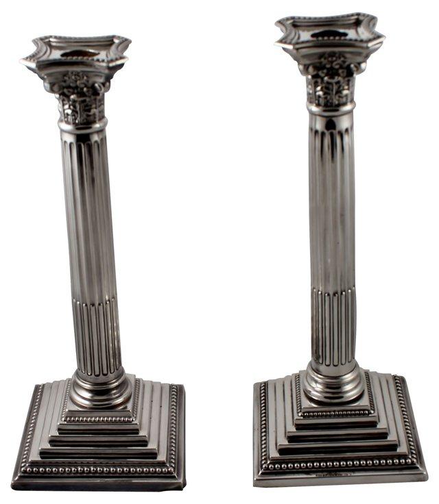 Corinthian Candlesticks, Pair