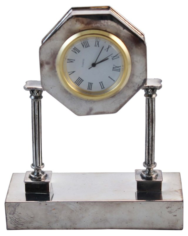 Columnular Sterling Clock