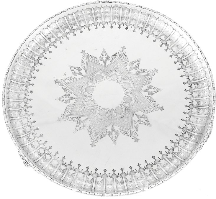 19th-C. Silverplate Salver