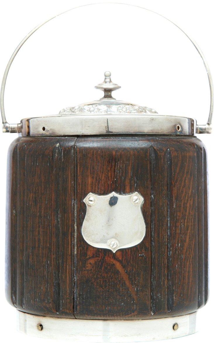 Oak Biscuit Box