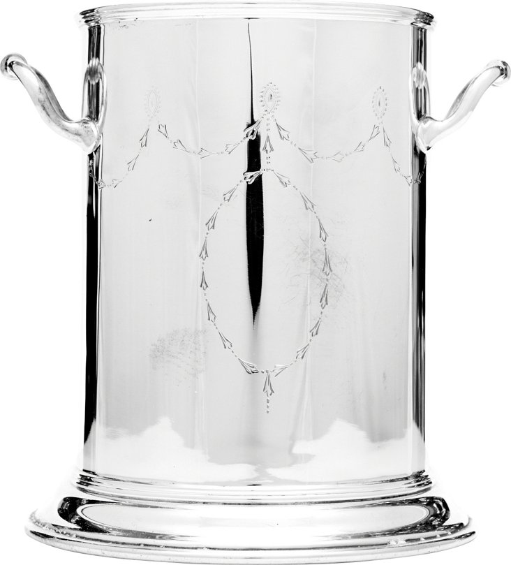 Engraved Silverplate Syphon Stand