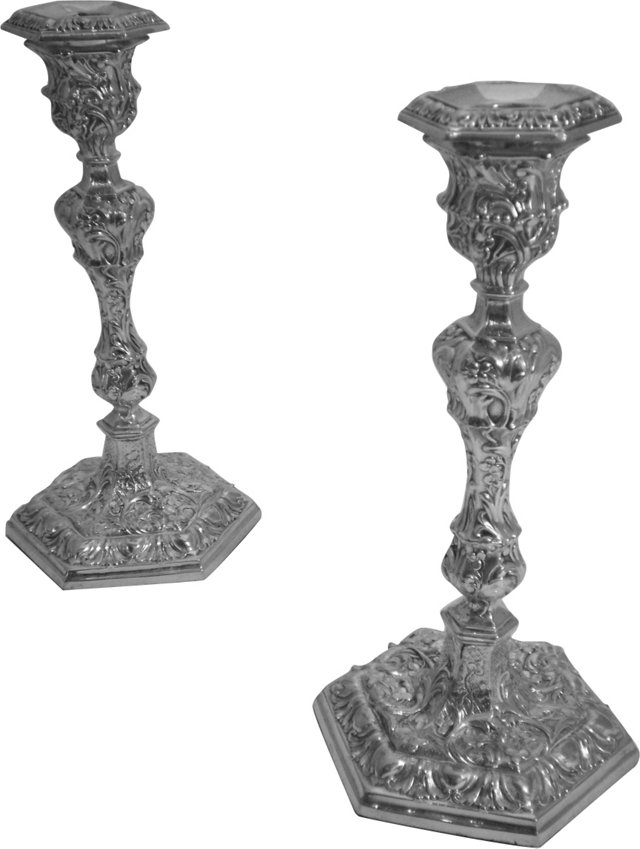 English Candlesticks, C. 1850, Pair