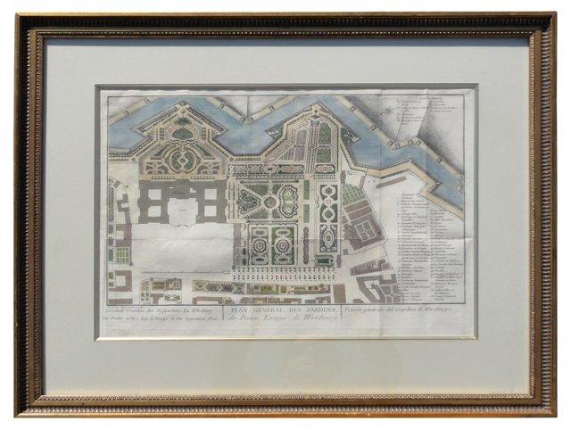 18th-C. Würzburg Court Garden Plan