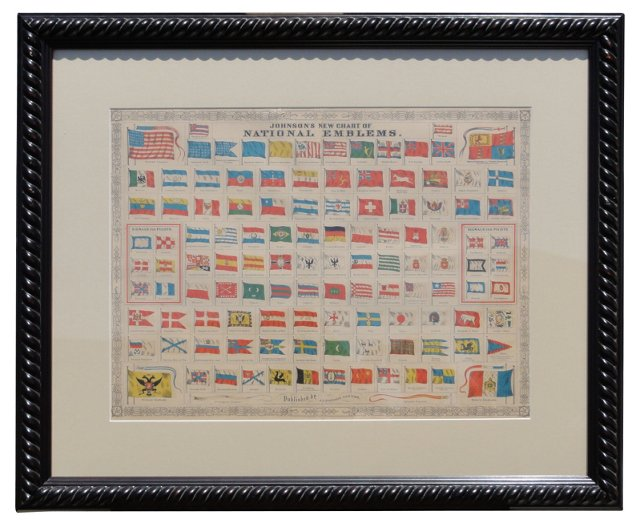 1860s National Flags Print