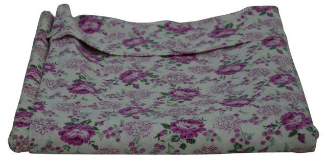 Pink & Green Floral Duvet Cover