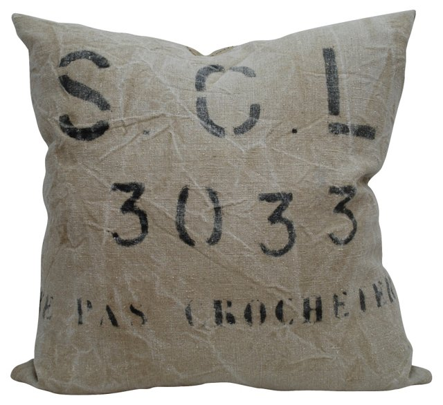 S.C.L. 3033 Mill Sack Pillow