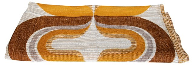 Gold-Tones Scandinavian Fabric, 2.8 Yds